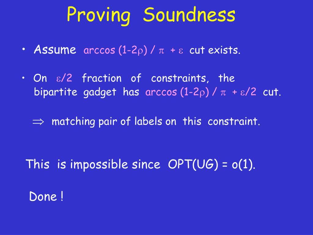 Proving  Soundness