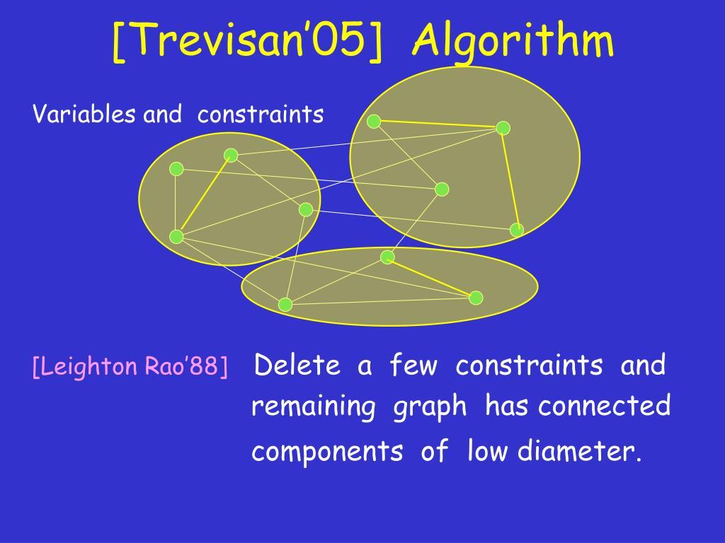 [Trevisan'05]  Algorithm