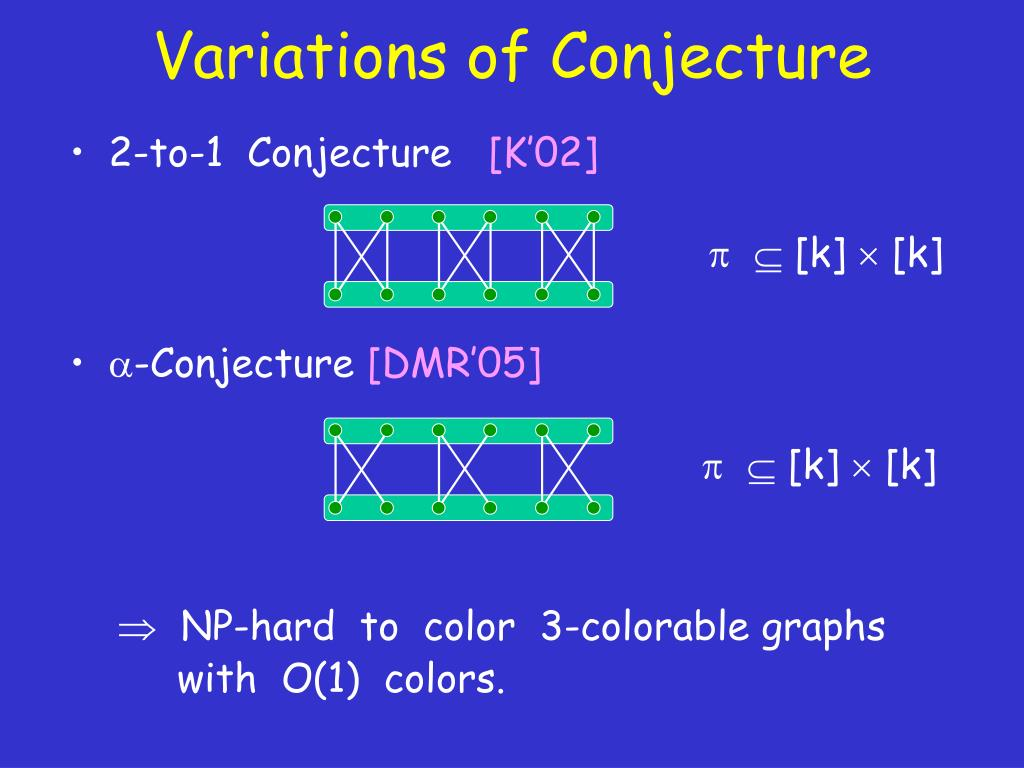 Variations of Conjecture