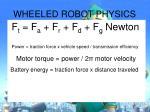 wheeled robot physics
