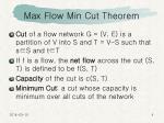 max flow min cut theorem4