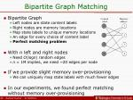 bipartite graph matching