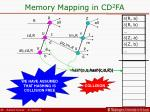 memory mapping in cd 2 fa