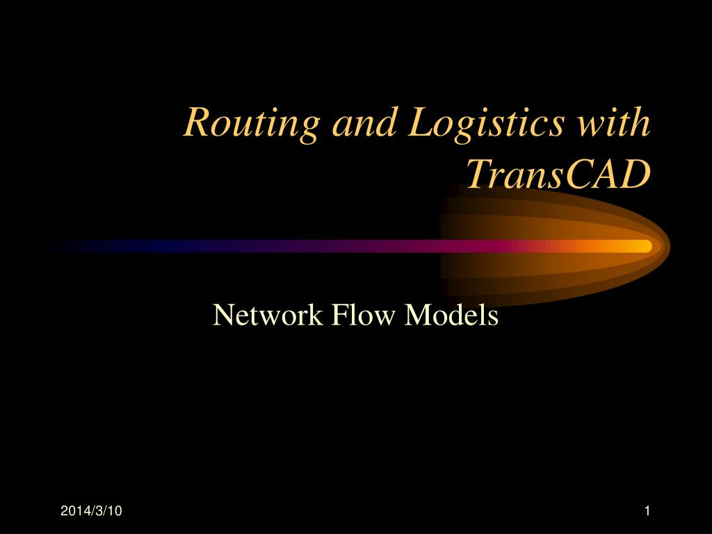 routing and logistics with transcad l.