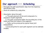 our approach scheduling