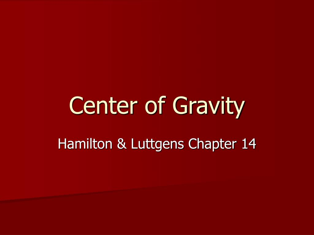 center of gravity l.