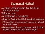 segmental method