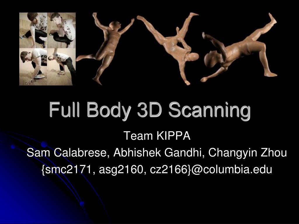 full body 3d scanning l.