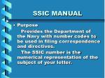 ssic manual