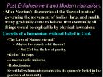 post enlightenment and modern humanism