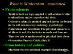 what is modernism continued
