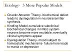 etiology 3 more popular models