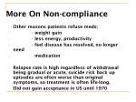 more on non compliance