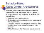 behavior based robot control architectures27