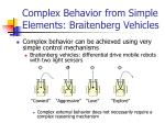 complex behavior from simple elements braitenberg vehicles
