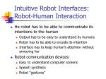intuitive robot interfaces robot human interaction