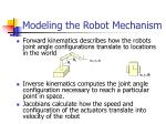 modeling the robot mechanism