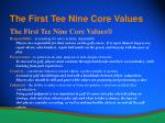 the first tee nine core values10