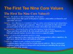 the first tee nine core values9