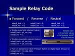 sample relay code