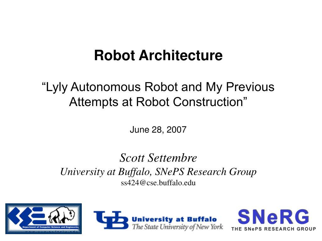 robot architecture l.