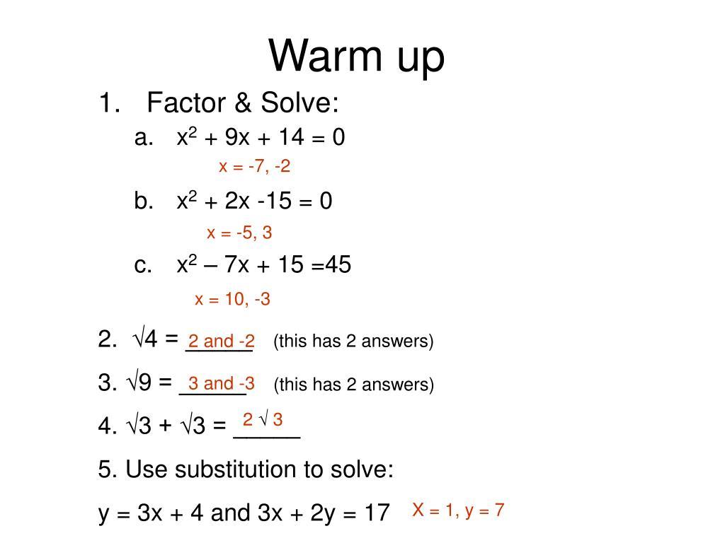 warm up l.
