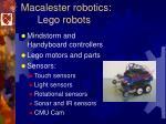 macalester robotics lego robots