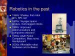 robotics in the past