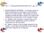 ex 1 using perpendicular bisectors pg 273