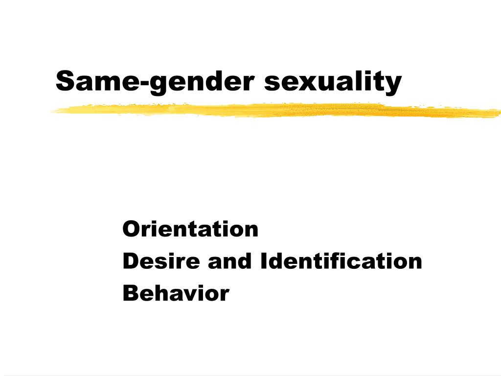 same gender sexuality l.