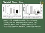 skeletal dimorphism