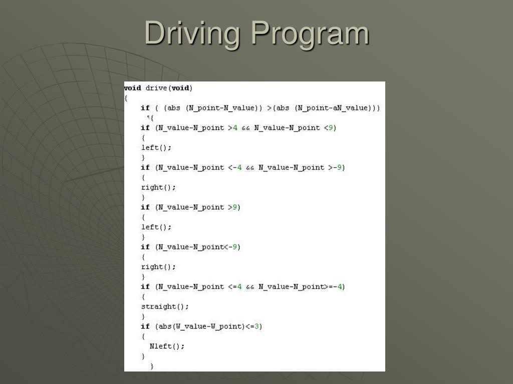 Driving Program