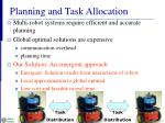 planning and task allocation