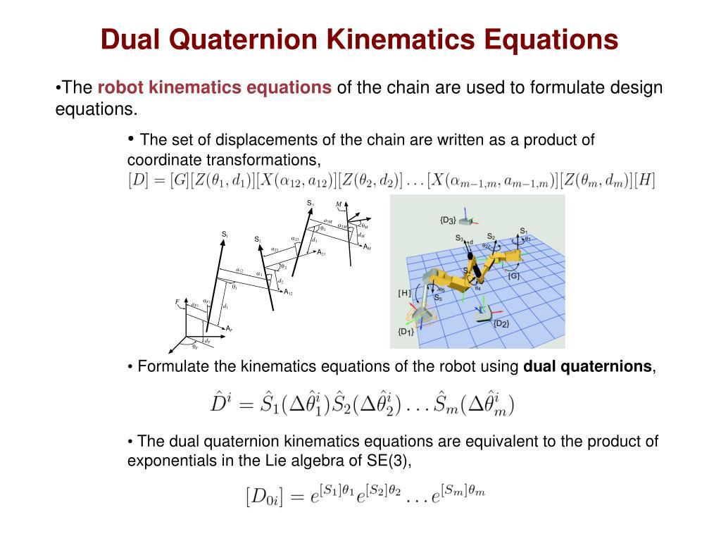 Dual Quaternion Kinematics Equations