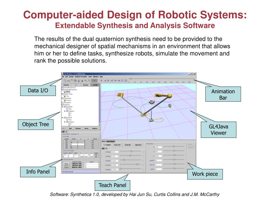 Computer-aided Design of Robotic Systems: