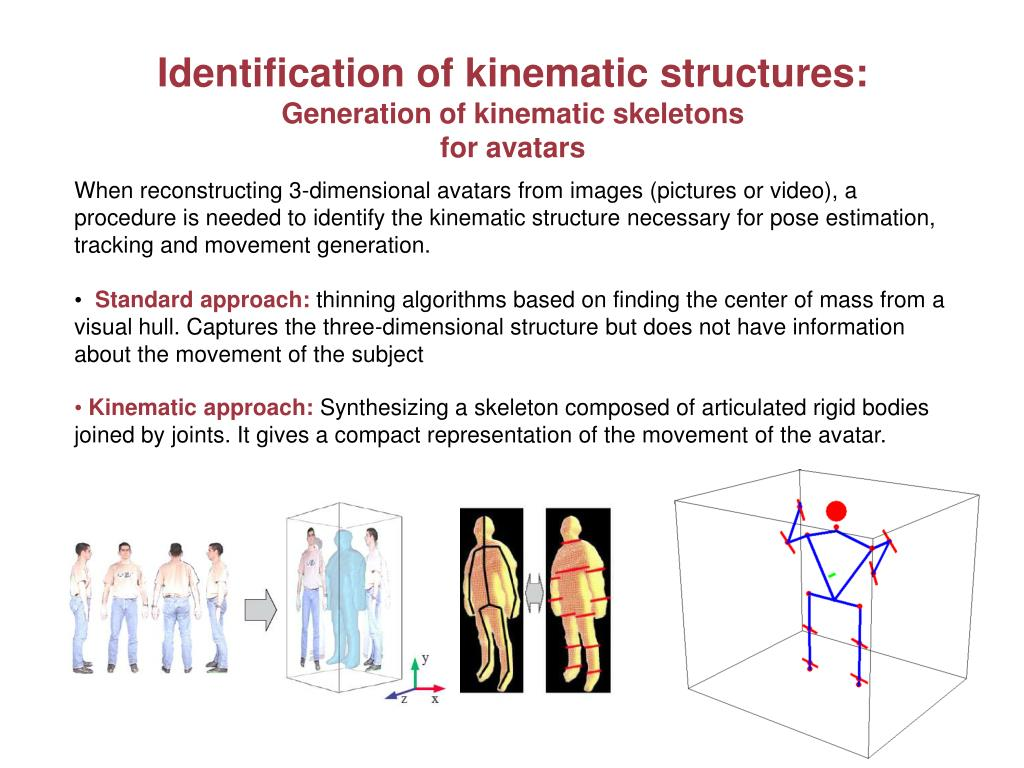 Identification of kinematic structures: