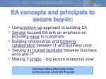 ea concepts and principals to secure buy in