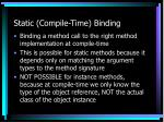 static compile time binding
