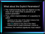 what about the explicit parameters