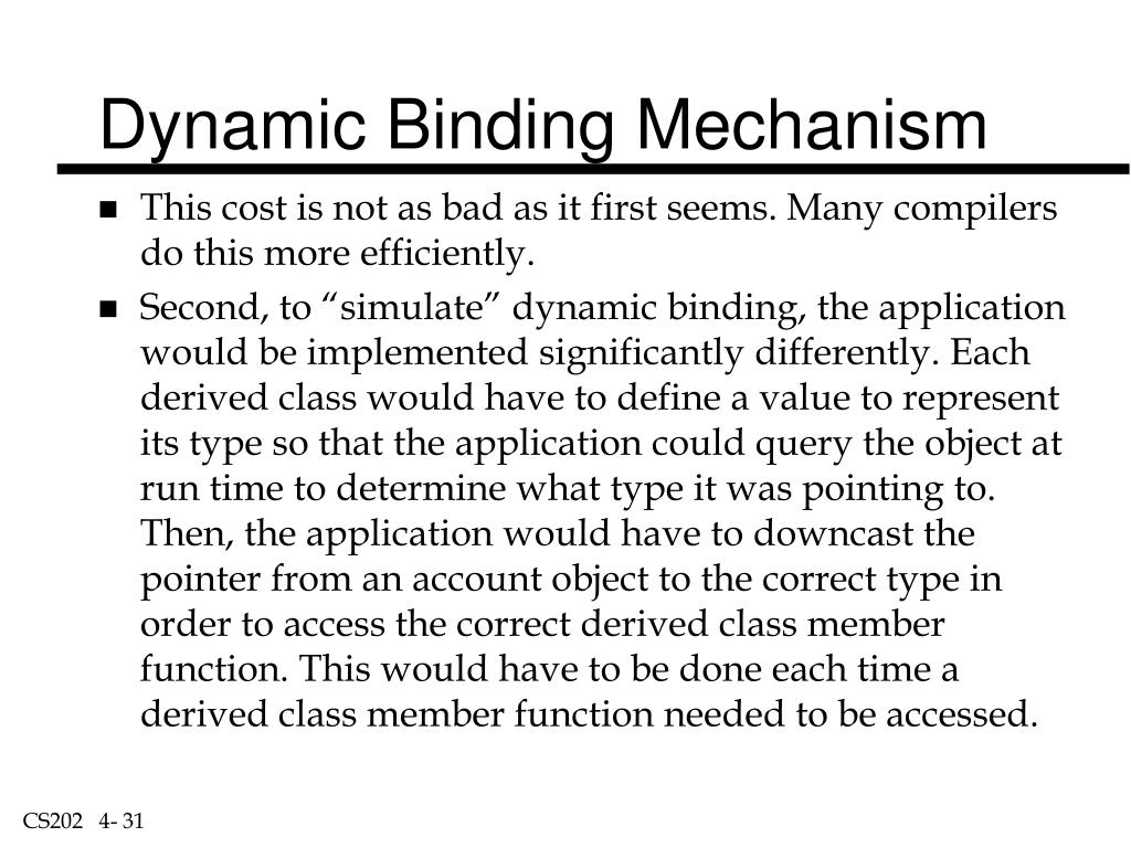 Dynamic Binding Mechanism