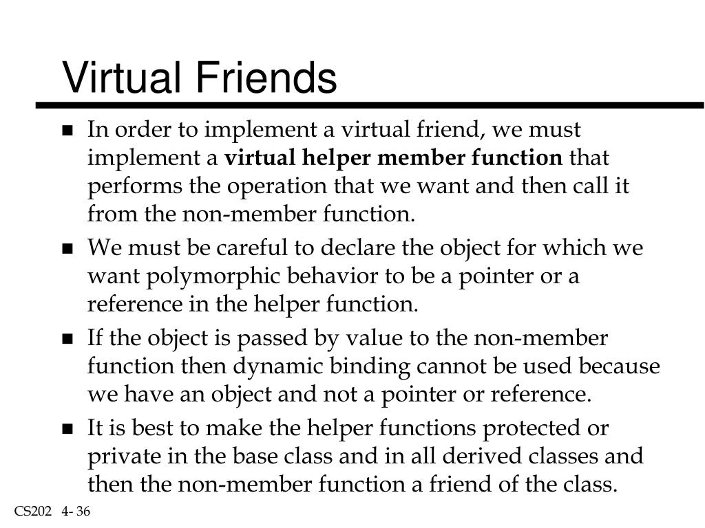 Virtual Friends