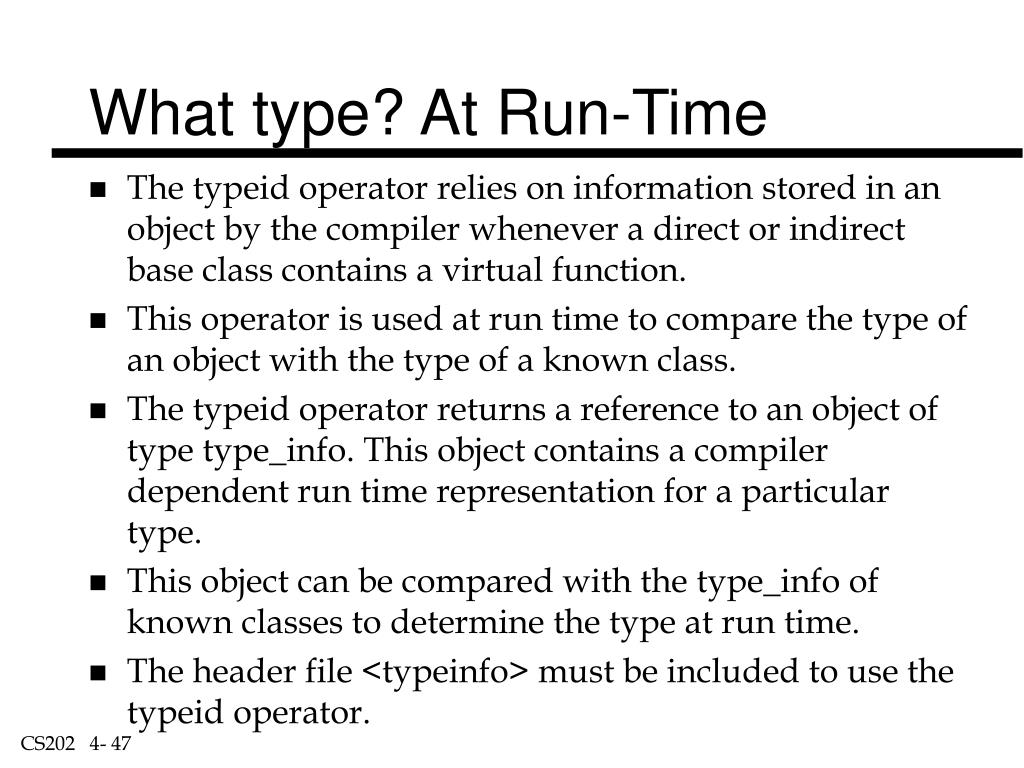 What type? At Run-Time