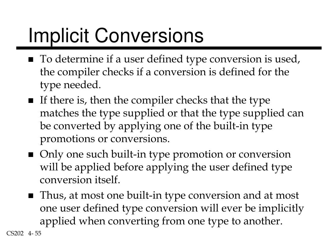 Implicit Conversions