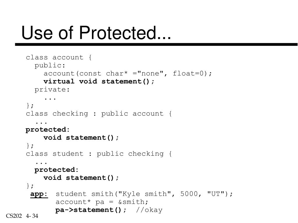 Use of Protected...