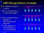 arp message delivery example