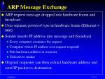 arp message exchange