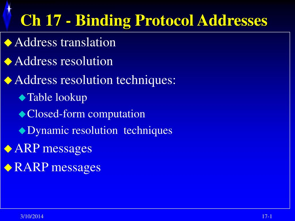 ch 17 binding protocol addresses l.