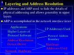 layering and address resolution
