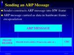 sending an arp message