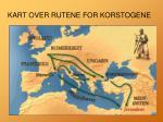 kart over rutene for korstogene
